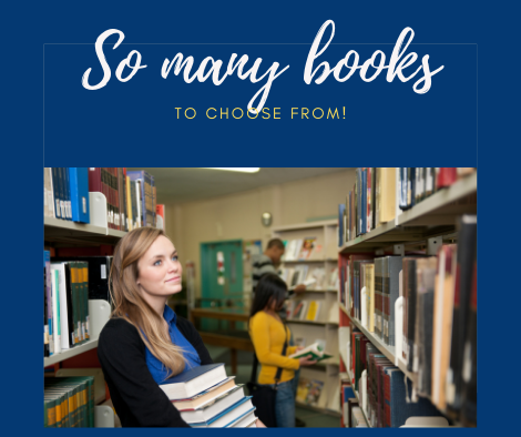browsing the library graphic