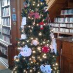 thomas beaver free library christmas tree with ornaments