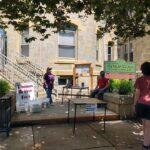 curbside service at thomas beaver free library